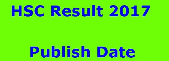 HSC result 2017 published date