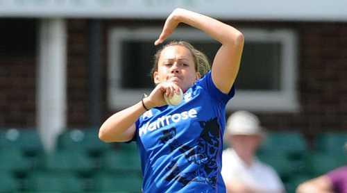 Sexy female cricketer Laura Marsh